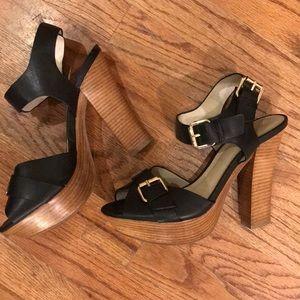 Black chunky high heel